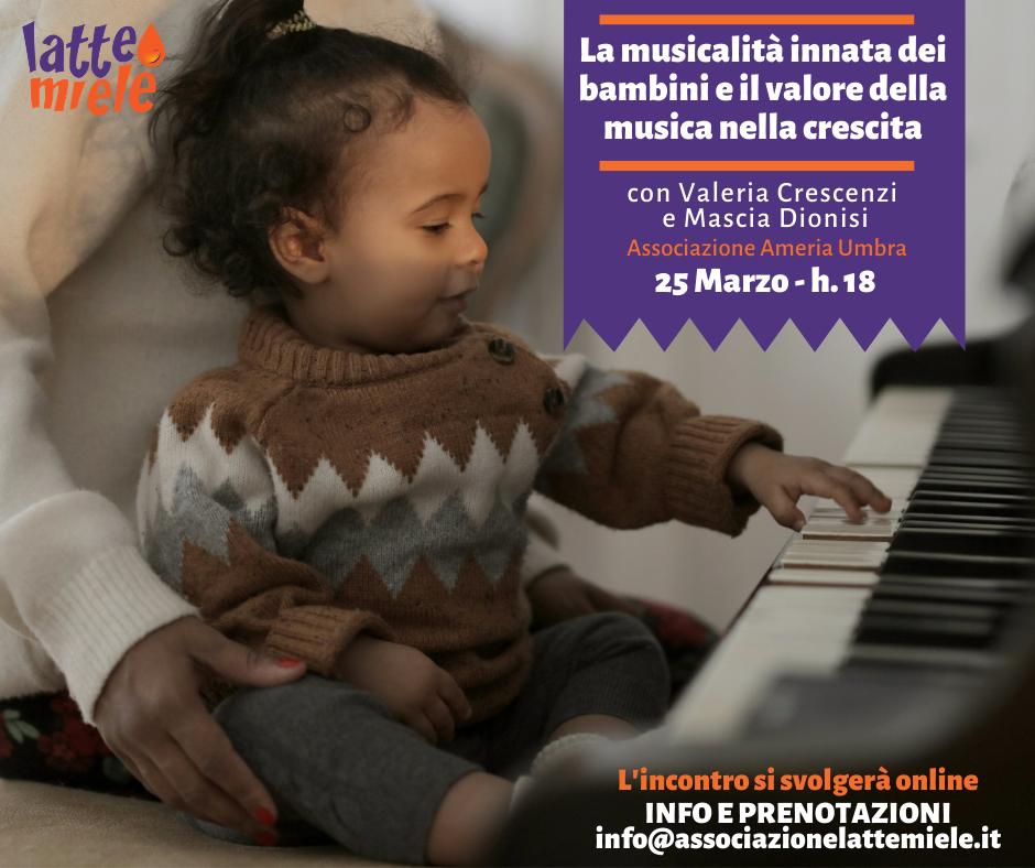 La musicalità innata dei bambini e il valore della musica nella crescita